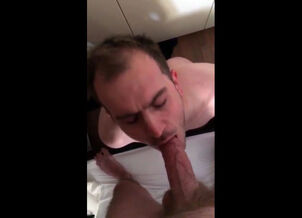 Men eat their own cum